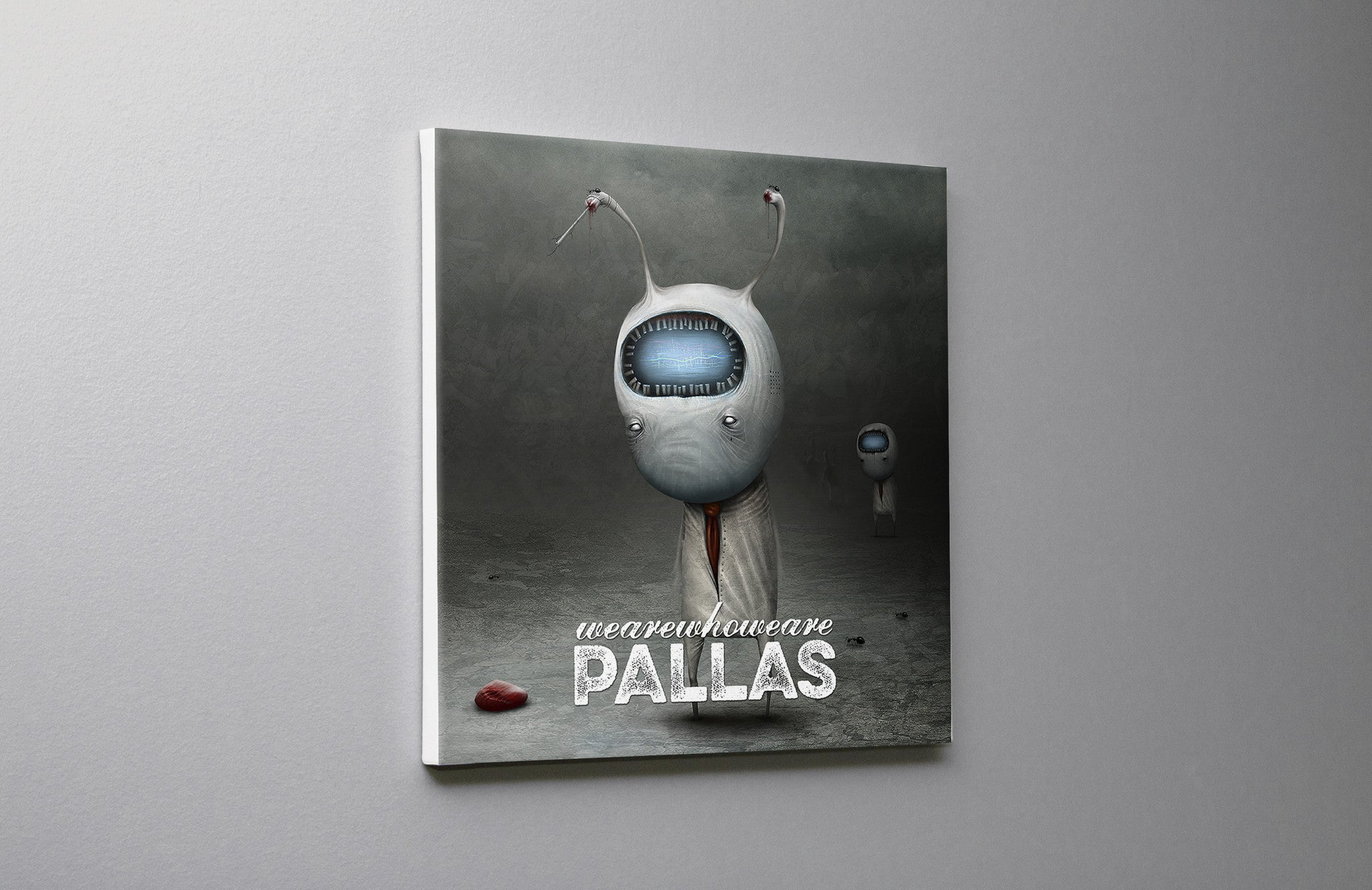 Pallas wearewhoweare cover Canvas Wall Art Custom T Shirt by Lets Get Shirty Dot Com
