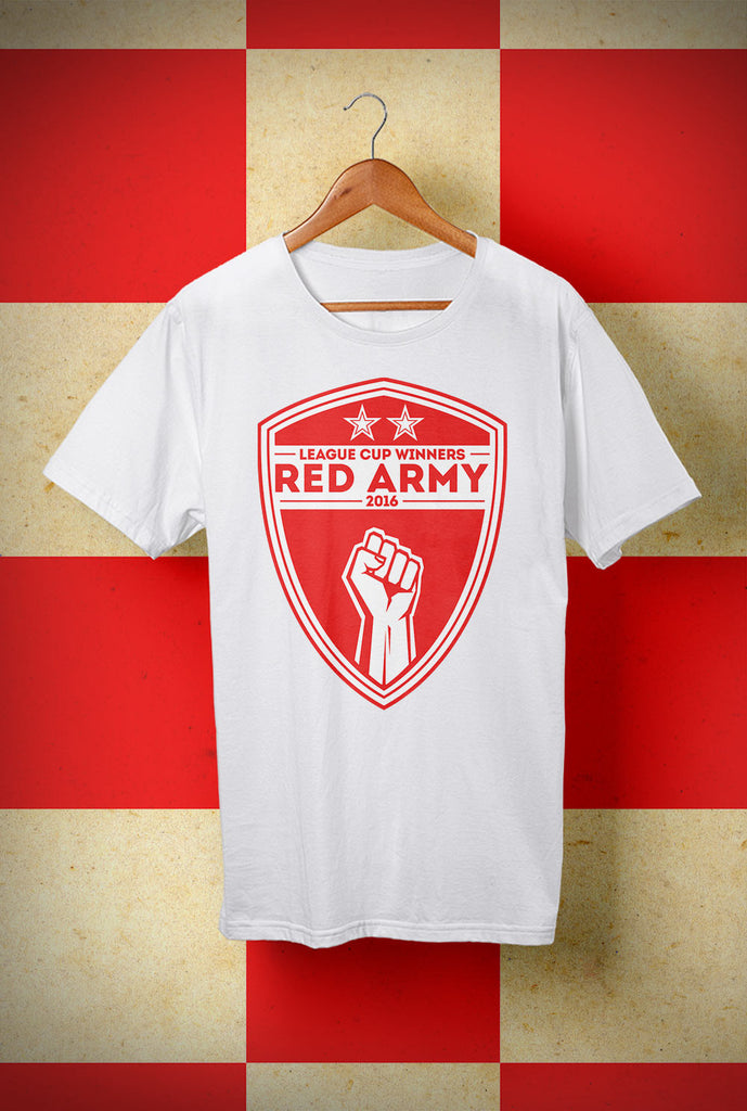 ABERDEEN RED ARMY SHIELD LEAGUE CUP WINNERS 2016 T SHIRT ::  <p> Unisex Gildan T Shirt In a Range of 10 colours Custom T Shirt by Lets Get Shirty Dot Com