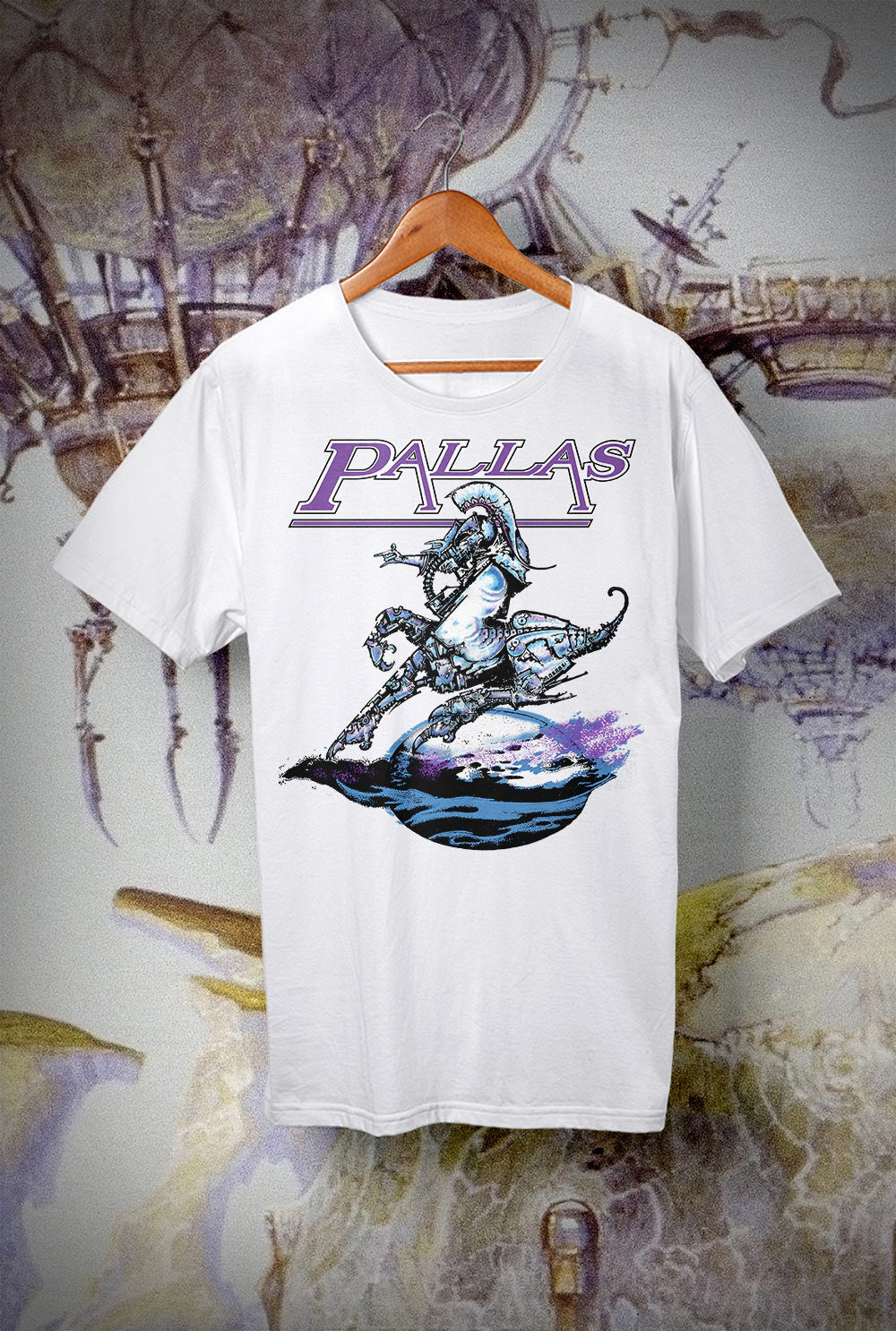 Pallas The Sentinel Kids T Shirts<p> In Light Blue, Black, White, Red and Purple Custom T Shirt by Lets Get Shirty Dot Com