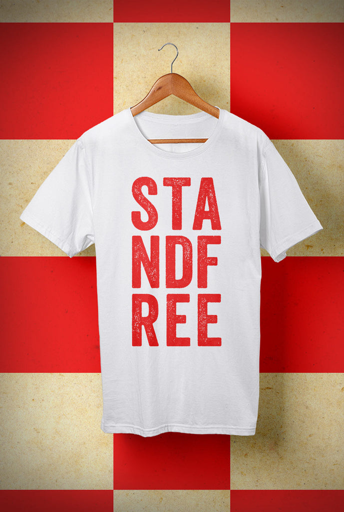 STANDFREE <p> Unisex Gildan T Shirt In a Range of 10 colours Custom T Shirt by Lets Get Shirty Dot Com