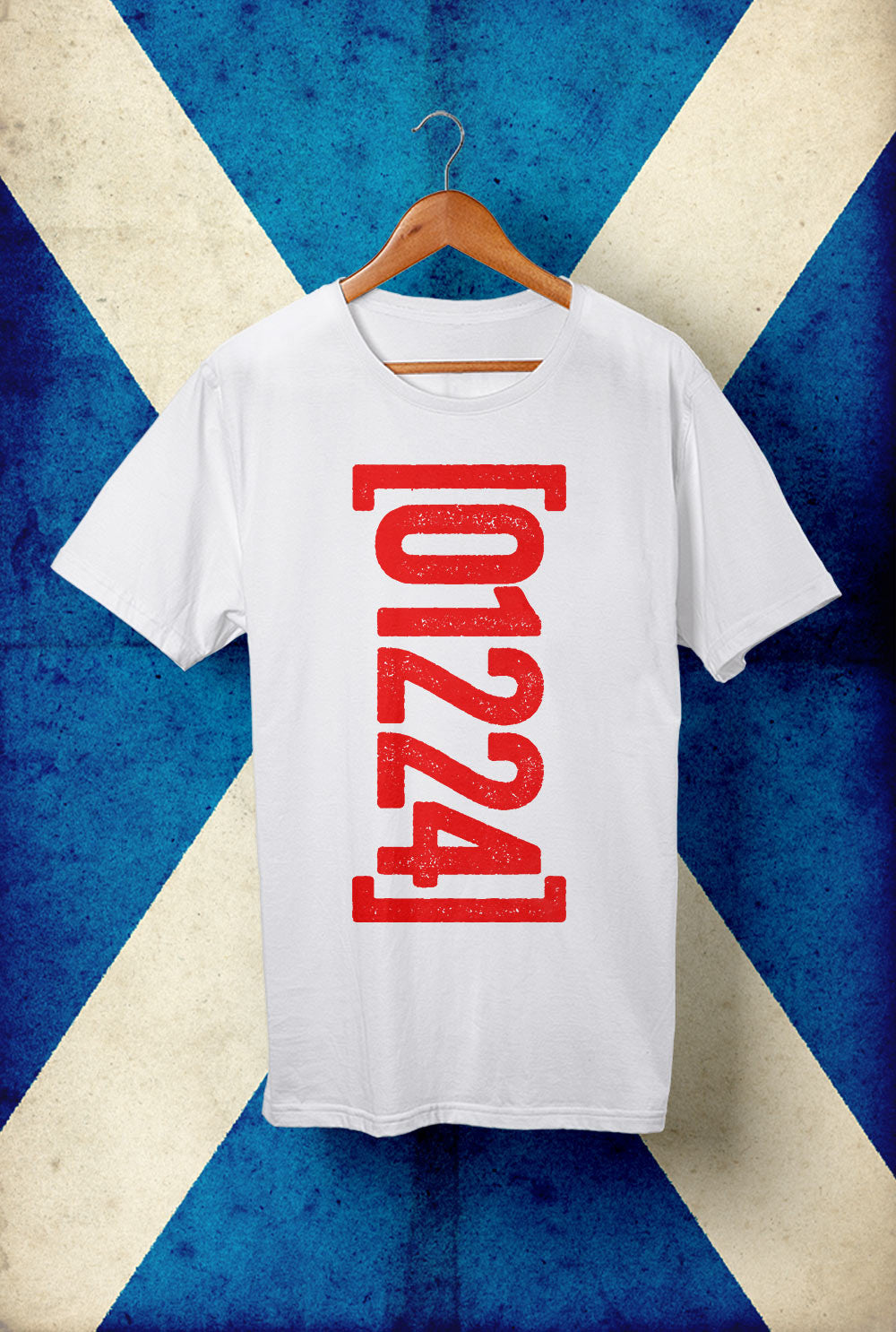 "Aberdeen T shirt ""01224"" Vertical <p> Unisex Gildan T Shirt In a Range of 10 colours Custom T Shirt by Lets Get Shirty Dot Com"