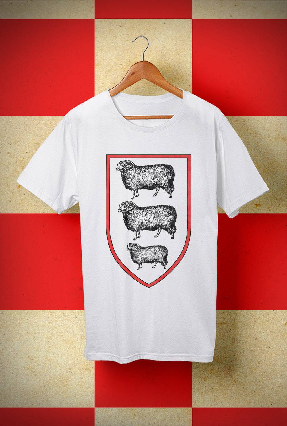 ABERDEEN RED ARMY T SHIRT :: THREE SHEEP ON YOUR CHEST  <p> Unisex Gildan T Shirt In a Range of 10 colours Custom T Shirt by Lets Get Shirty Dot Com