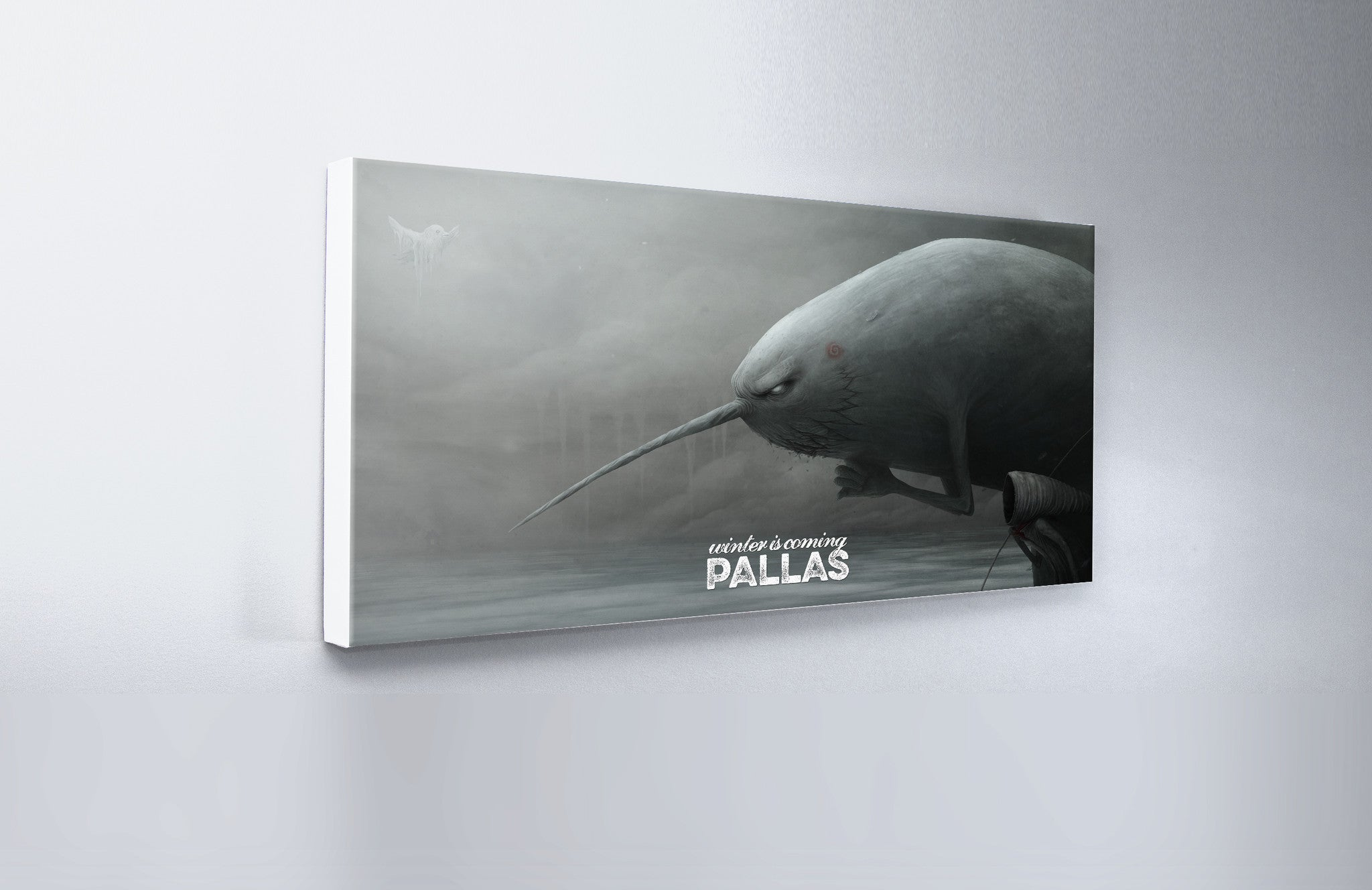 Pallas wearewhoweare Winter Is Coming Artwork 'WideScreen' Wall Canvas Custom T Shirt by Lets Get Shirty Dot Com
