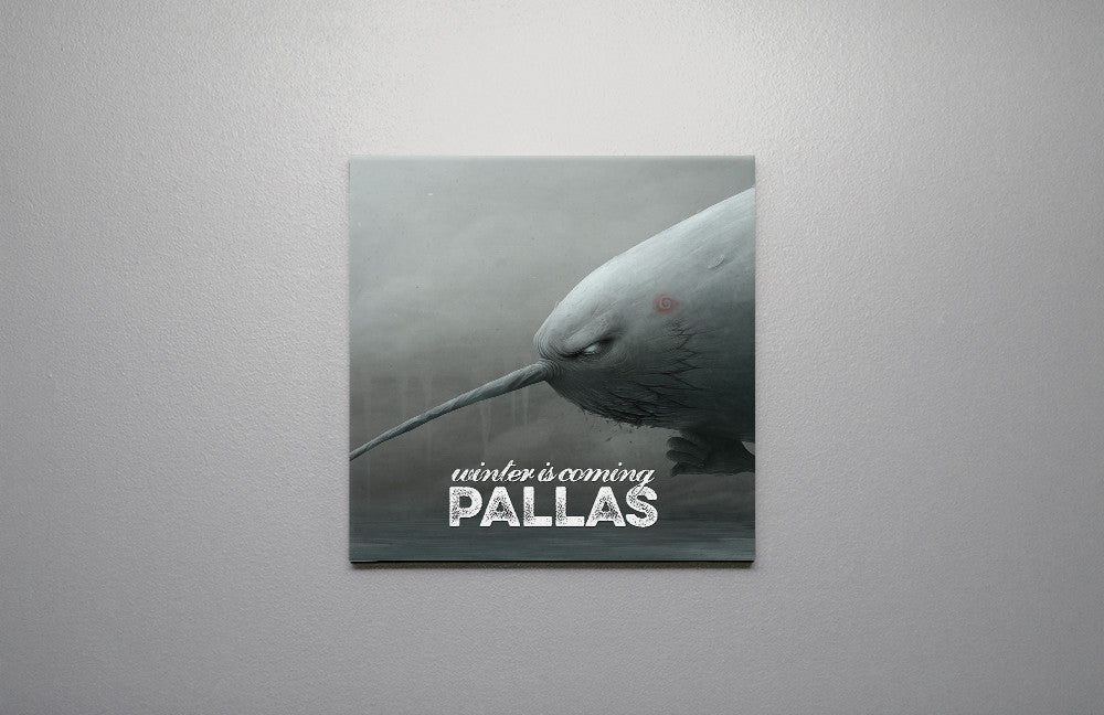 Pallas wearewhoweare Winter Is Coming Canvas Wall Art Custom T Shirt by Lets Get Shirty Dot Com