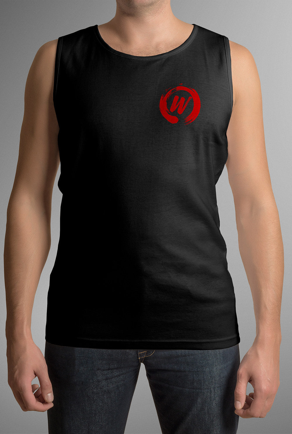 Will VEST - LOGO AS PLACED ON MOCK UP Custom T Shirt by Lets Get Shirty Dot Com