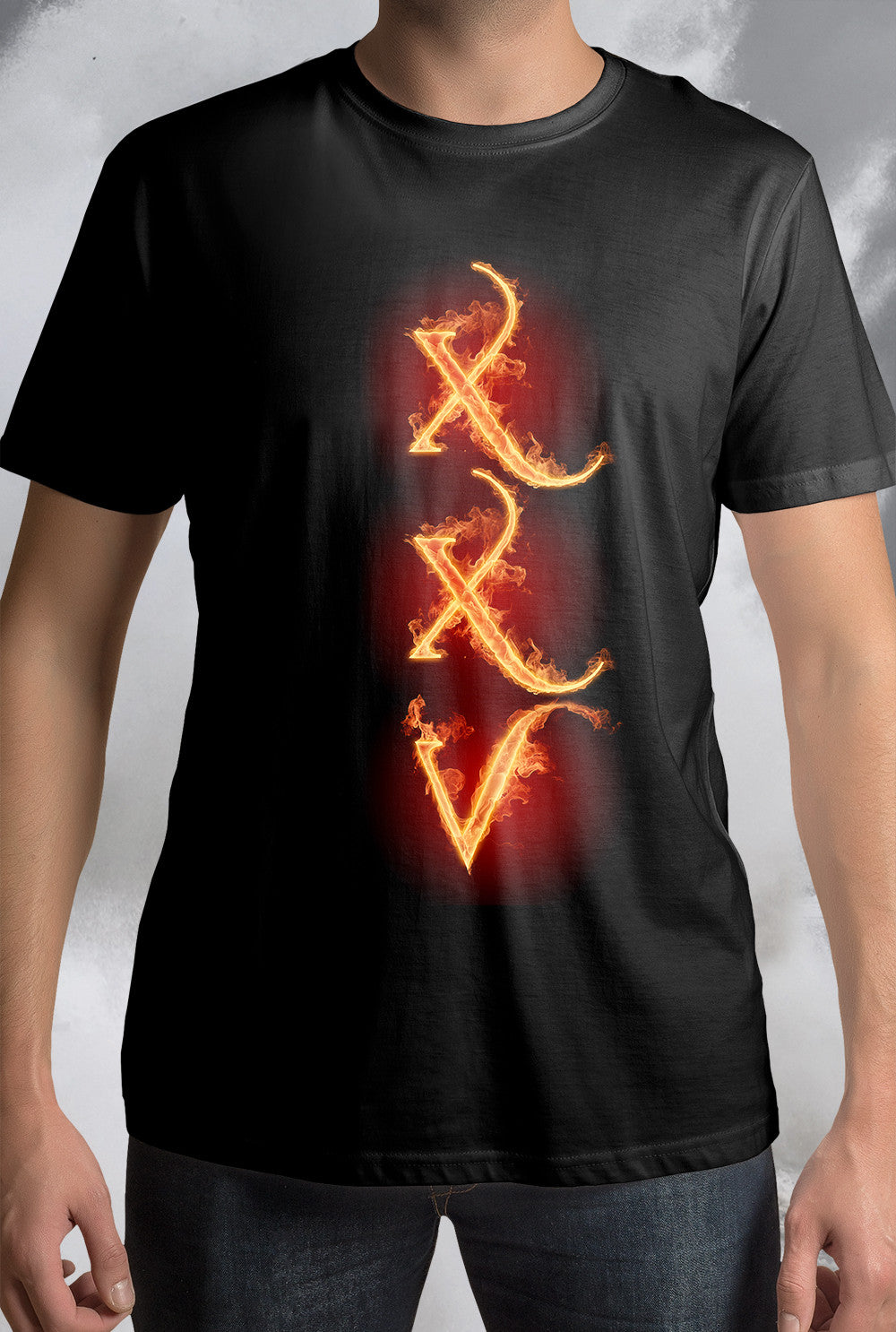 PALLAS XXV FLAME TEXT  <p>Unisex Gildan T Shirt In Black Custom T Shirt by Lets Get Shirty Dot Com