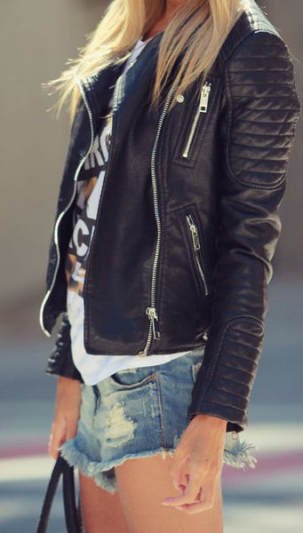 Moto Jacket with Shorts