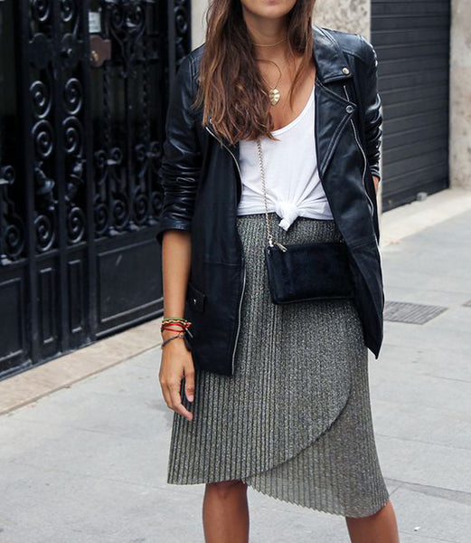 Moto Jacket with Skirt