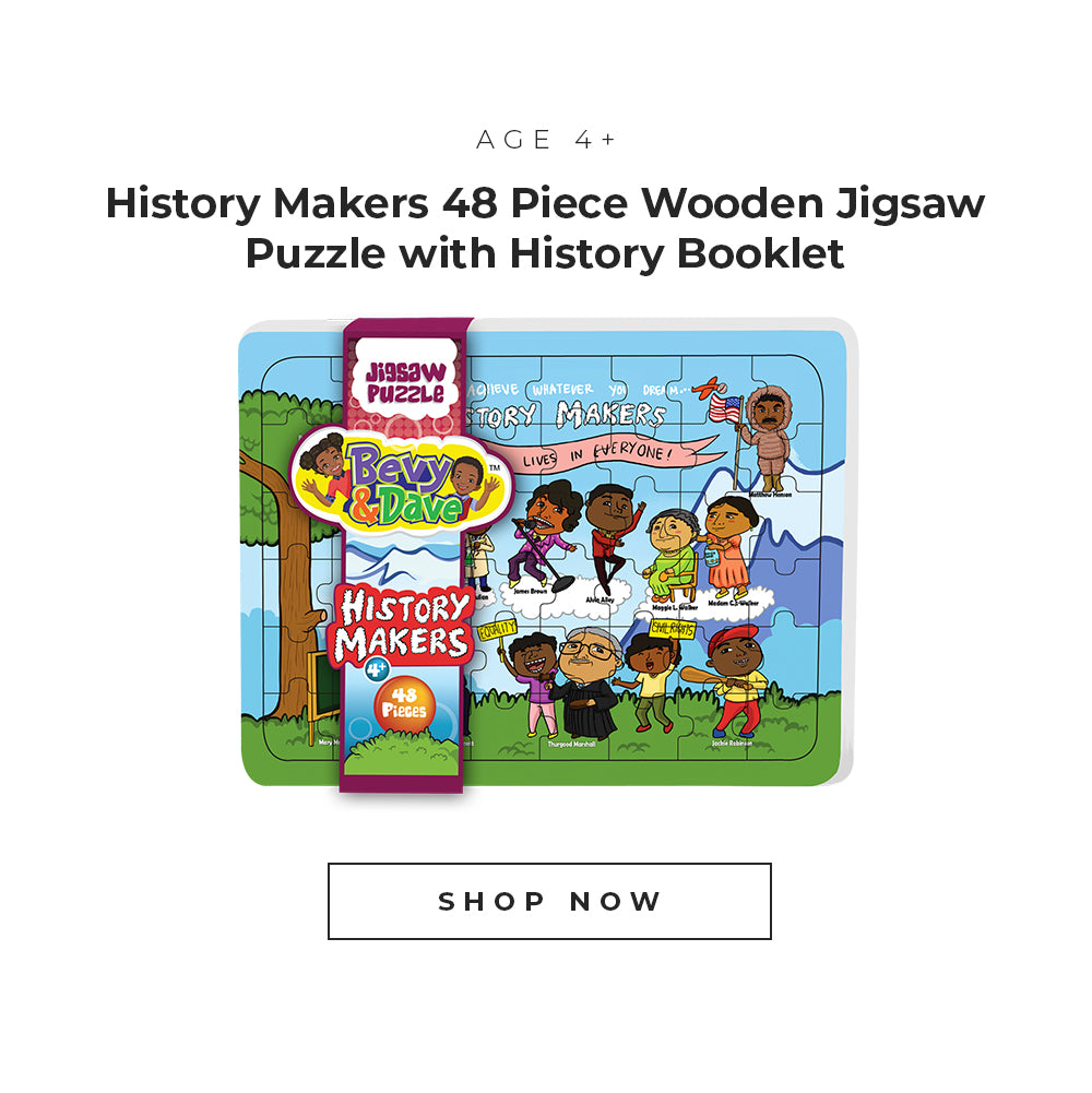 48 Piece wooden jigsaw puzzle with history booklet for ages 4 plus.