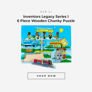 Inventors Legacy Series 1 6 Piece Wooden Chunky Puzzle for Age 2 plus.  Click to Shop Now.