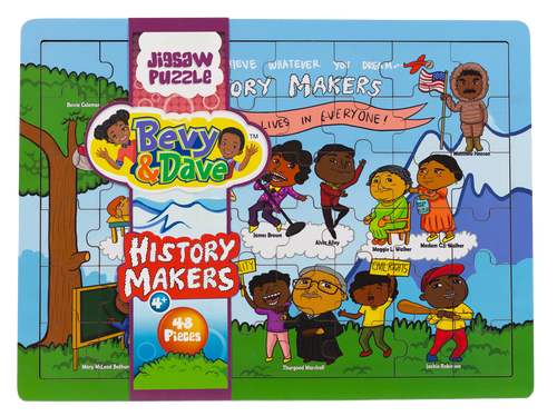 [History Makers Puzzle Block Set] - Bevy & Dave