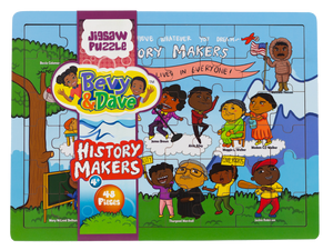 History Makers 48 Piece Wooden Jigsaw Puzzle with History Booklet (New)