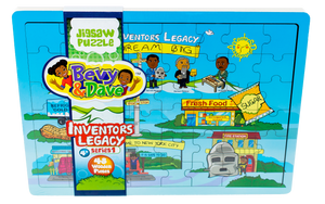 Inventors Legacy Series I.  48 Piece Wooden Jigsaw Puzzle