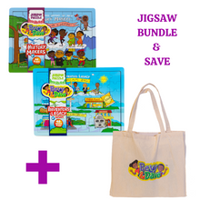 bevy and dave jigsaw bundle with tote