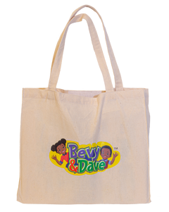 bevy and dave canvas  puzzle tote