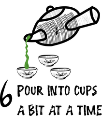how to pour Japanese tea into tea cups (slowly)