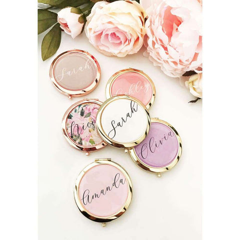 Personalized Compact Mirror W/ Personalized Names