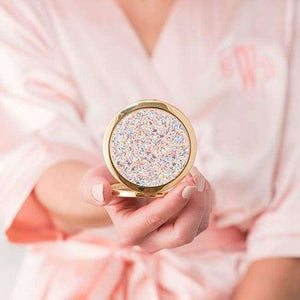 Personalized Rose Gold Glitter Compact - General