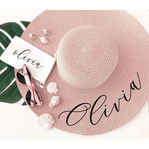 Personalized Sun Hat - Blush