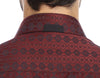 Burgundy circle back collar detail mens dress shirt from Modus man