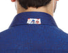 JER Square Blue back of collar detail mens dress shirt from Modus man