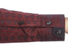 Burgundy circle revolver cuff detail mens dress shirt from Modus man