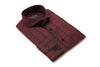Burgundy circle folded mens dress shirt from Modus man