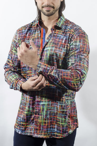 A funky long sleeve shirt from Via Uomo shirts Assens