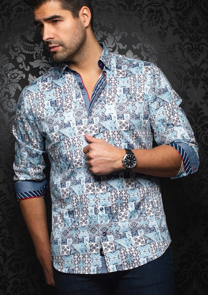 Au Noir shirts ALFONSO light blue