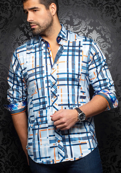 Au Noir shirts DIETER_blue orange