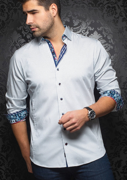 Au Noir shirts DIXON_white blue