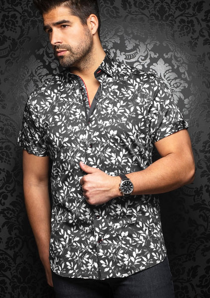 Au Noir short sleeve shirts ixtapa black