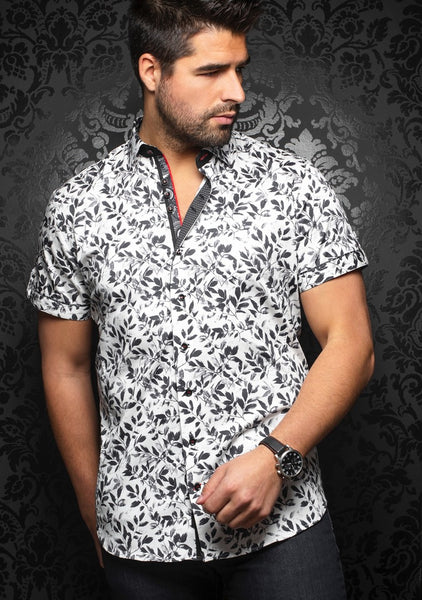 Au Noir short sleeve shirts IXTAPA (SS) white black