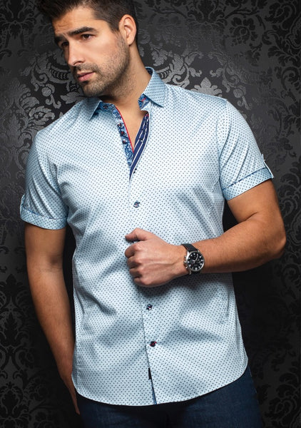 Au Noir shirts WEXLER (SS) light blue