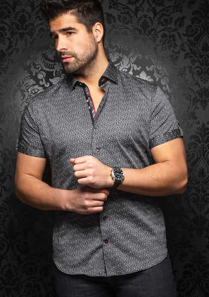 Au Noir short sleeve shirts whisky black