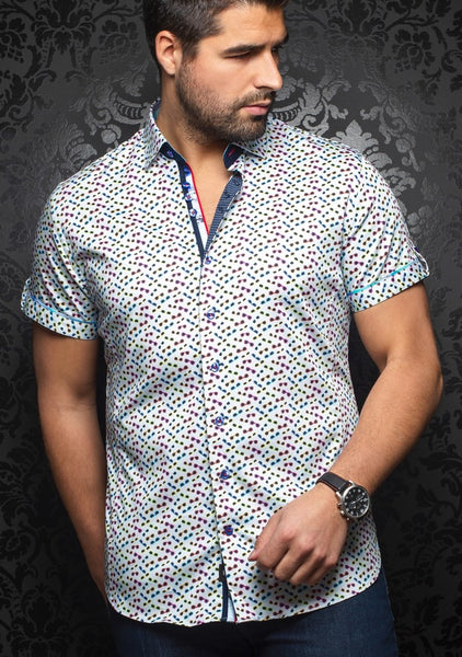 Au Noir short sleeve shirts WHISKY (SS) multi