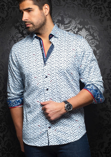 Au Noir shirts WHISKY light blue