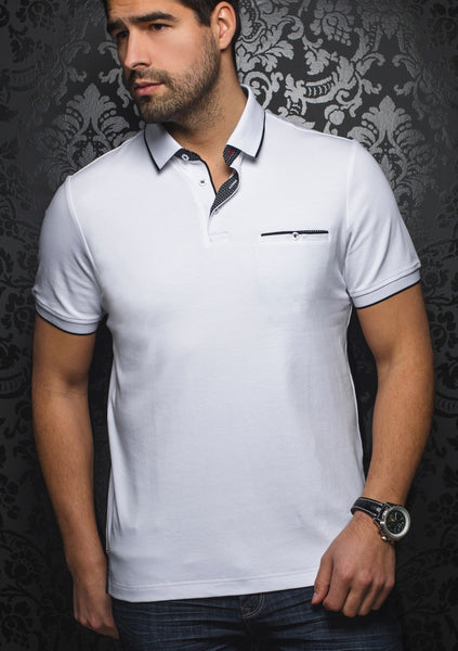 Au_Noir_polo_Shirts_FREDDIE_white