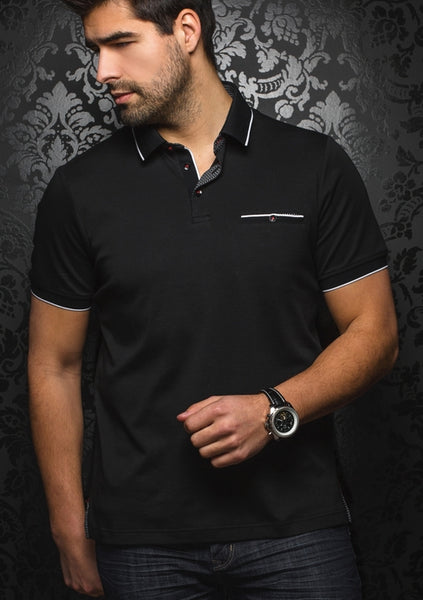 Au_Noir_polo_Shirts_FREDDIE_black