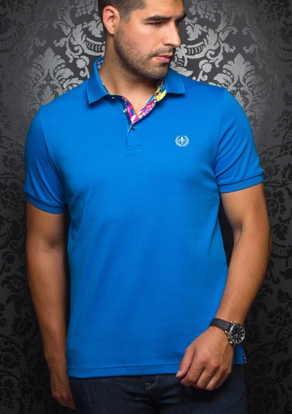 Au Noir blue polo shirt