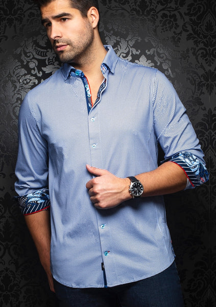 Au Noir shirts BELOTTI light blue