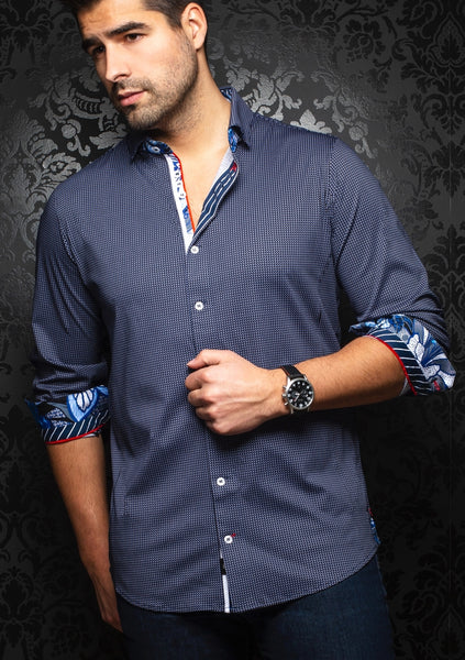 Au Noir shirts BELOTTI navy