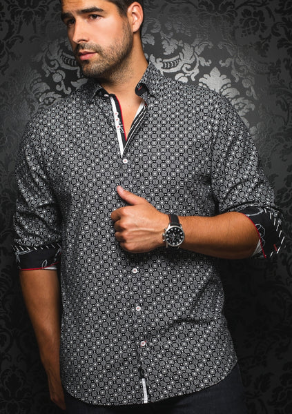 black long sleeve shirt for men by Au Noir shirts