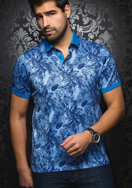 Au_Noir_polo_Shirts_CORSICA_light_blue