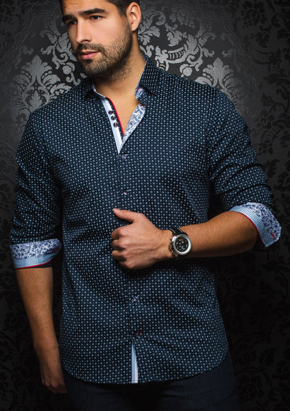 Au_noir_Navy_blue_mens_dress_shirt
