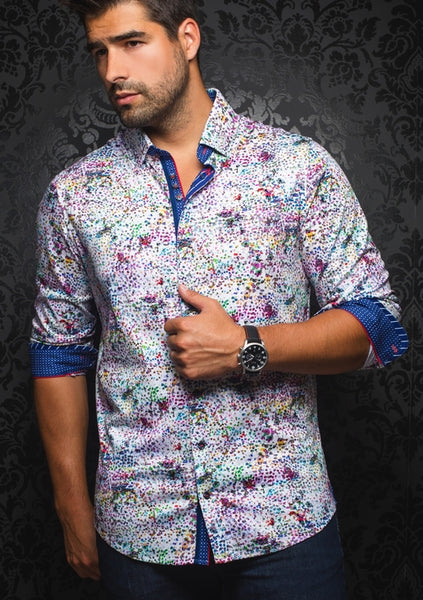 funky long sleeve shirt for men designed by Au noir shirts