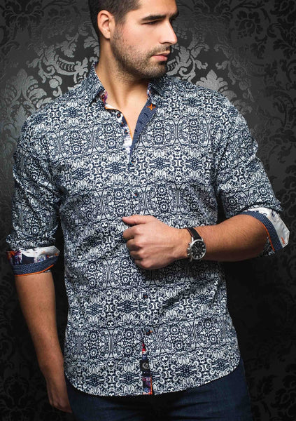 Au Noir shirts DOMENICO navy