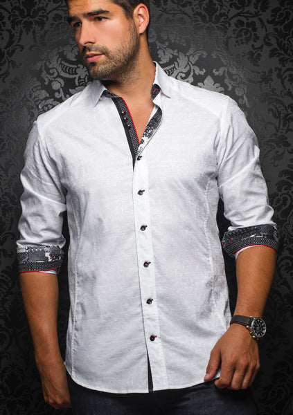 white long sleeve shirt designed by Au Noir shirts