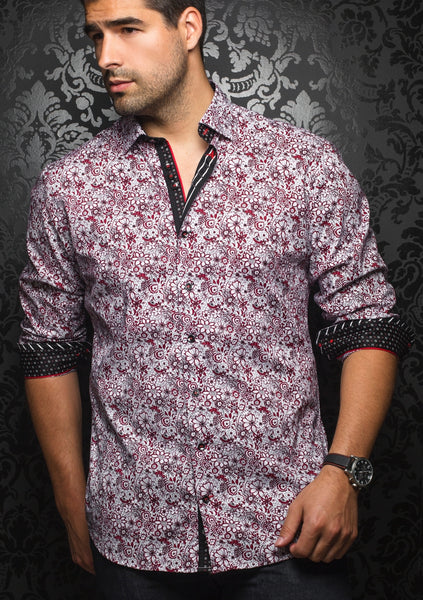 red floral shirt by Au Noir shirts