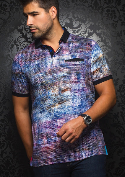 Au Noir shirts NASH blue multi